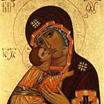 Icon painted by Larissa Dyan